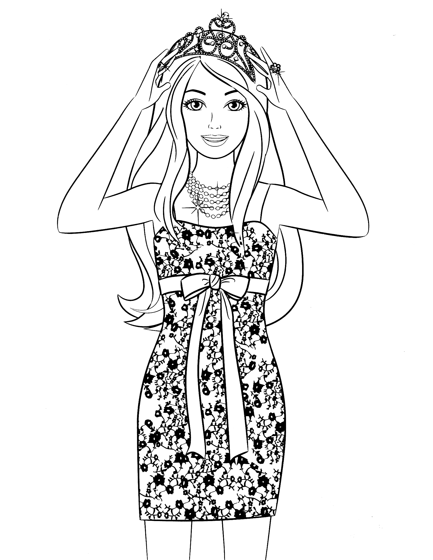 1700x2200 Printable Barbie Coloring Pages For Girls Barbie Coloring Page