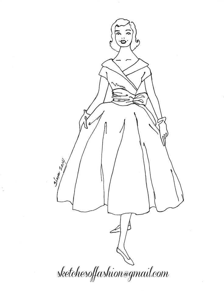 736x956 Fashion Coloring Pages