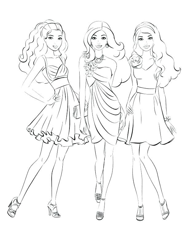 Fashion Model Coloring Pages at GetDrawings.com | Free for personal ...