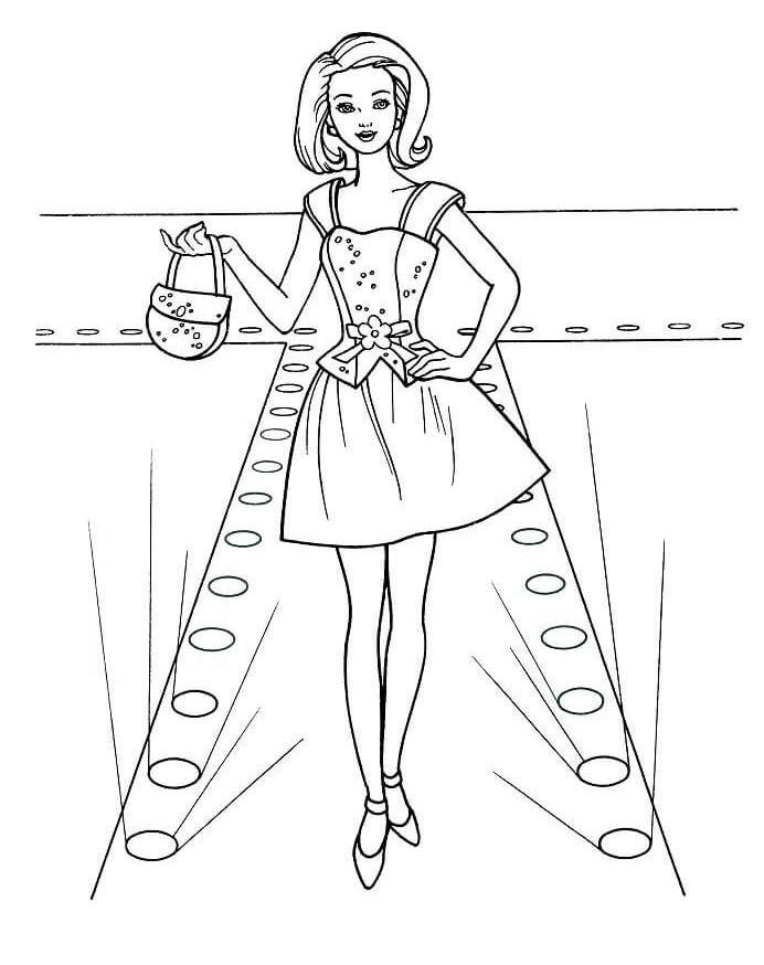 Fashion Show Coloring Pages