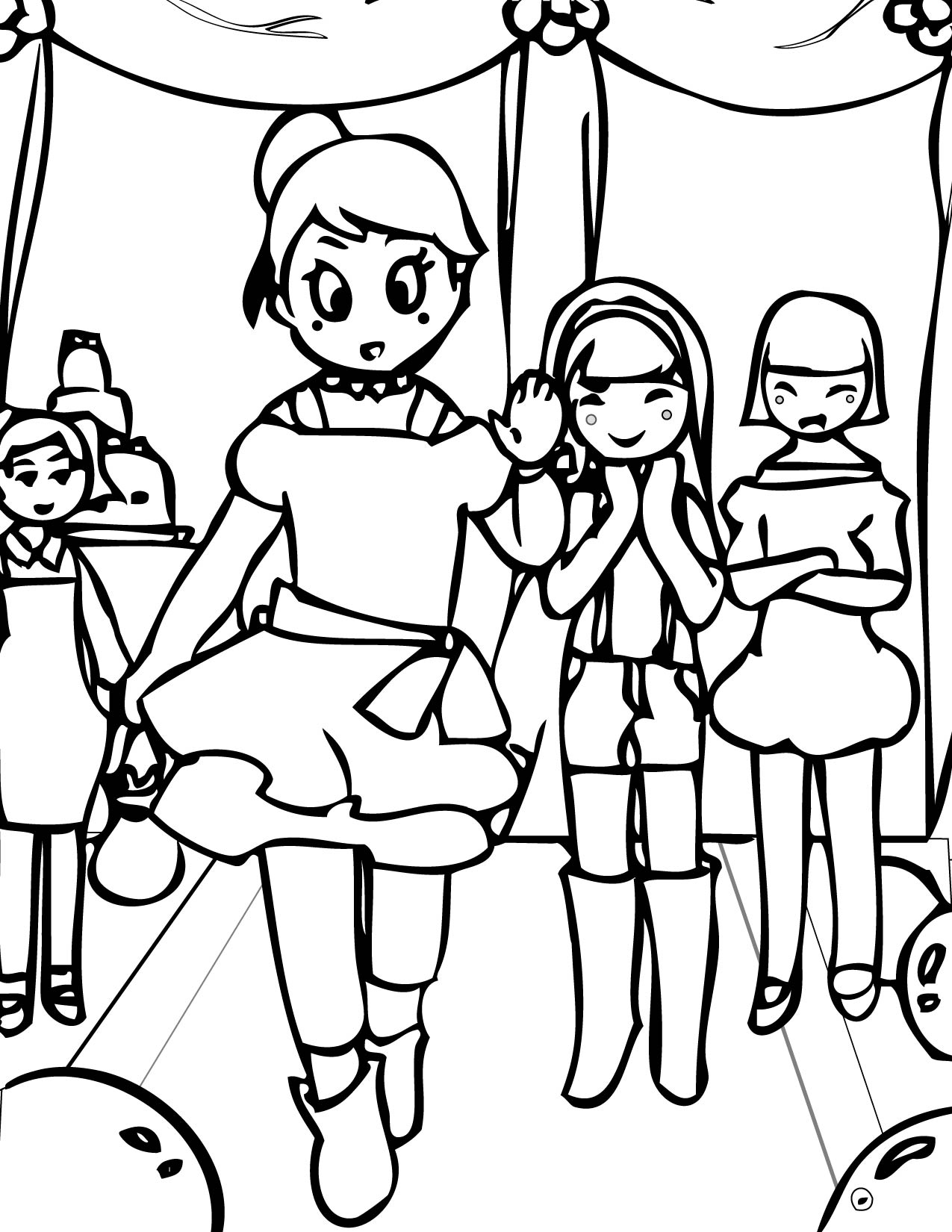 1275x1650 Fashion Show Coloring Page