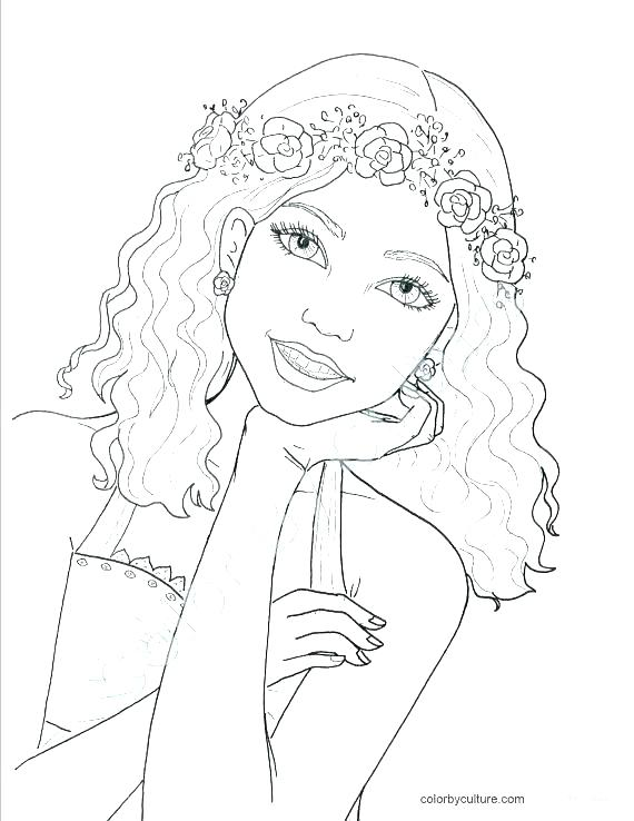 570x738 Barbie Fashion Coloring Pages Barbie Wedding Coloring Pages