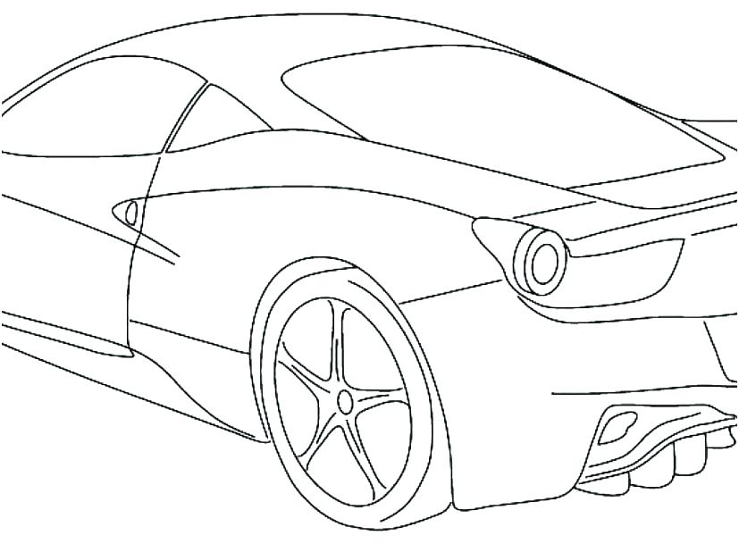 827x609 Sport Car Coloring Pages Coloring Home Sport Car Coloring Pages