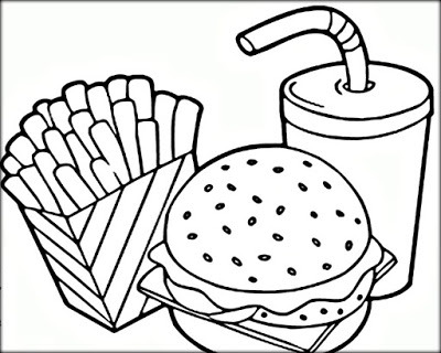 400x320 Fast Food Coloring Pages