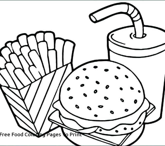 678x600 Fast Food Coloring Pages Food Coloring Pages Food Coloring Pages