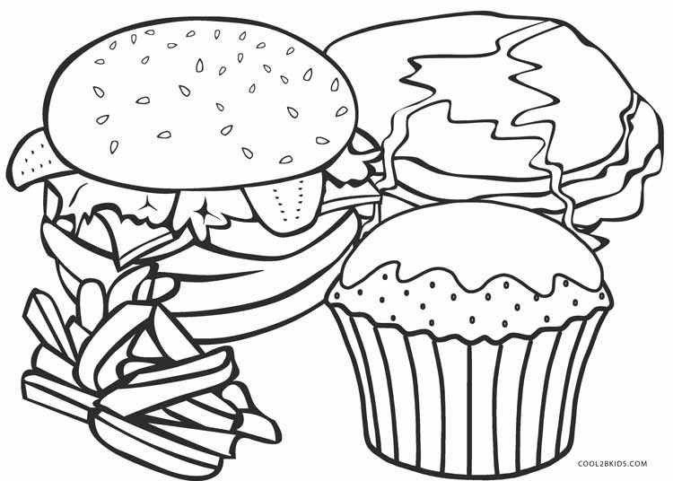 750x536 Fast Food Coloring Pages For Food Coloring Page