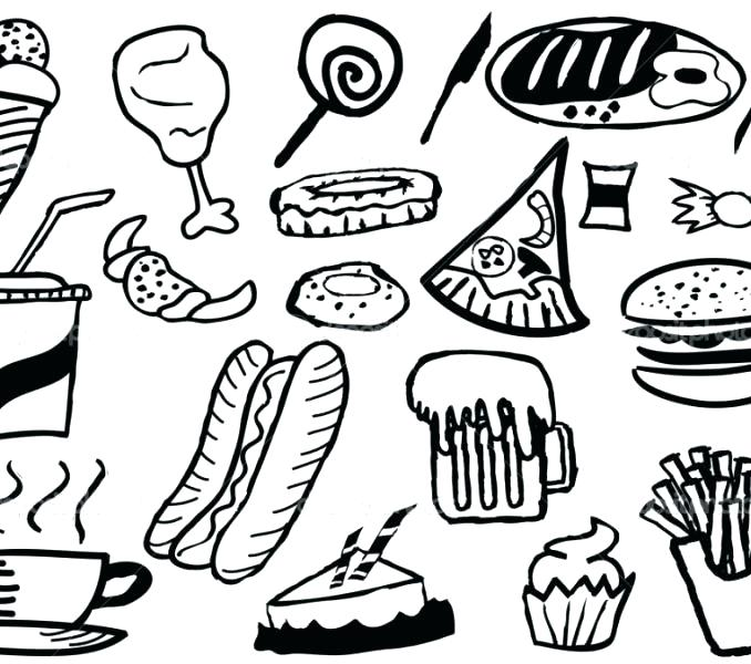 678x600 Fast Food Coloring Pages Junk Food Coloring Pages Junk Food