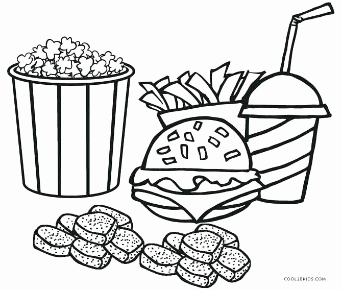 670x568 Fast Food Coloring Pages Photograph Ice Cream Coloring Pages Pdf