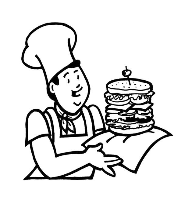 630x668 Fast Food The Big Burger Coloring Page For Kids Kids Coloring
