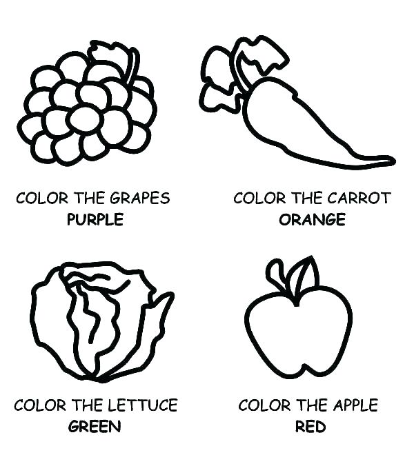 600x689 Good Fast Food Coloring Pages Or Healthy Printable Logos