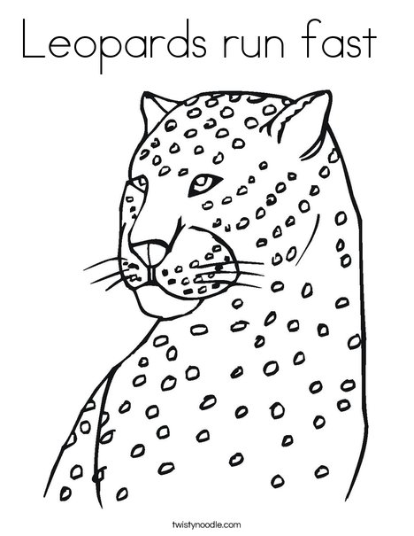 468x605 Leopards Run Fast Coloring Page