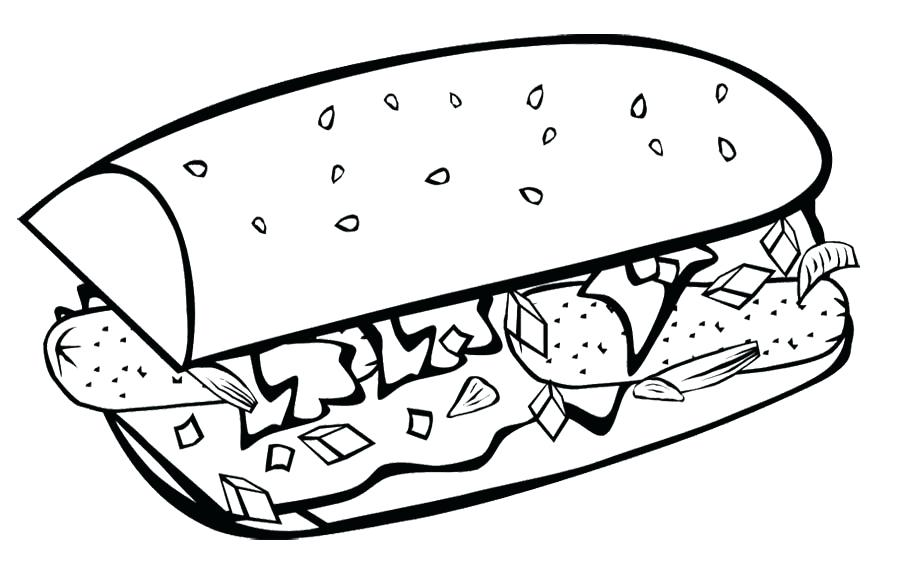 900x561 Coloring Pages Food Meal Food Coloring Fast Pages Breakfast Page
