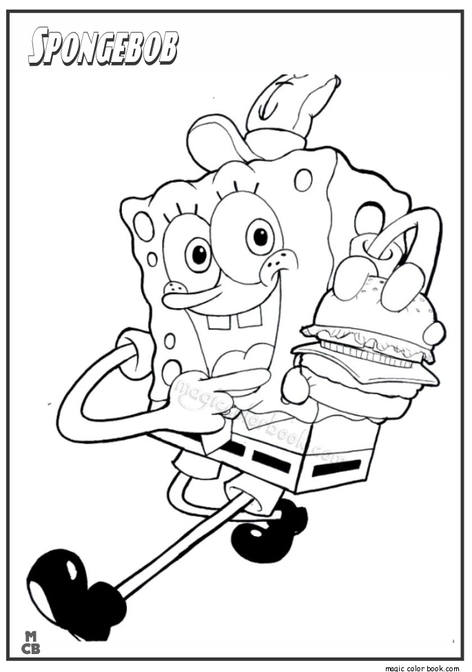 685x975 Spongebob Fast Food Coloring Pages