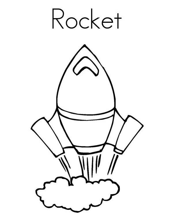 600x776 Rocket Ship Very Fast Speed Coloring Page