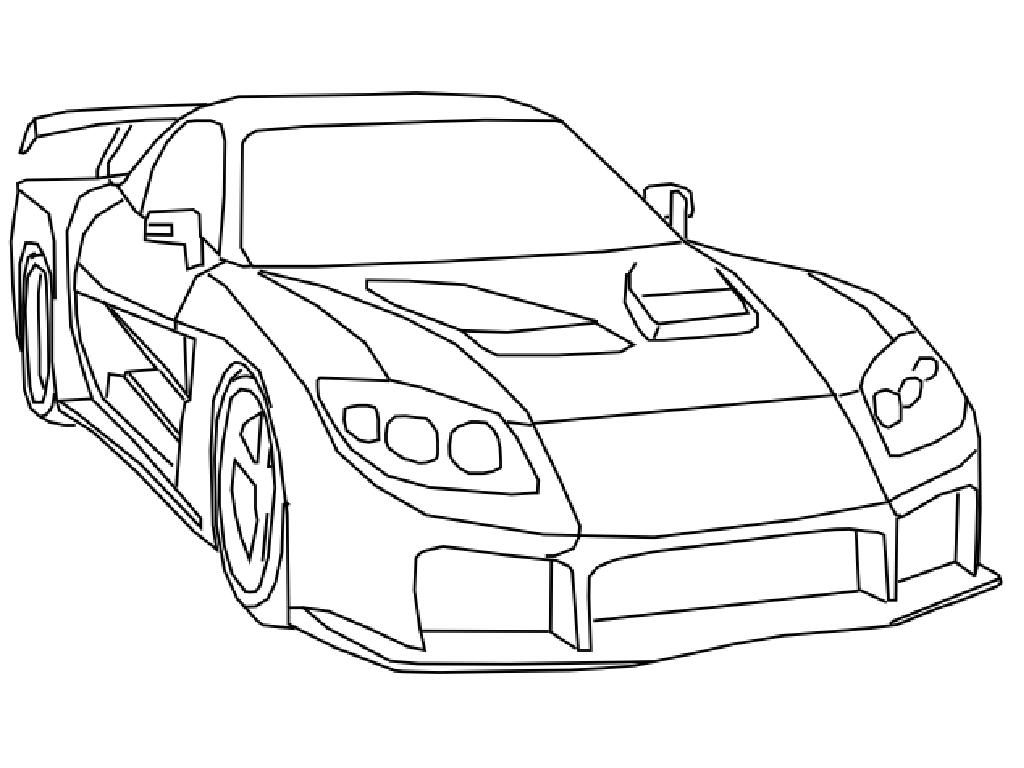 1024x768 Fast And Furious Coloring Page