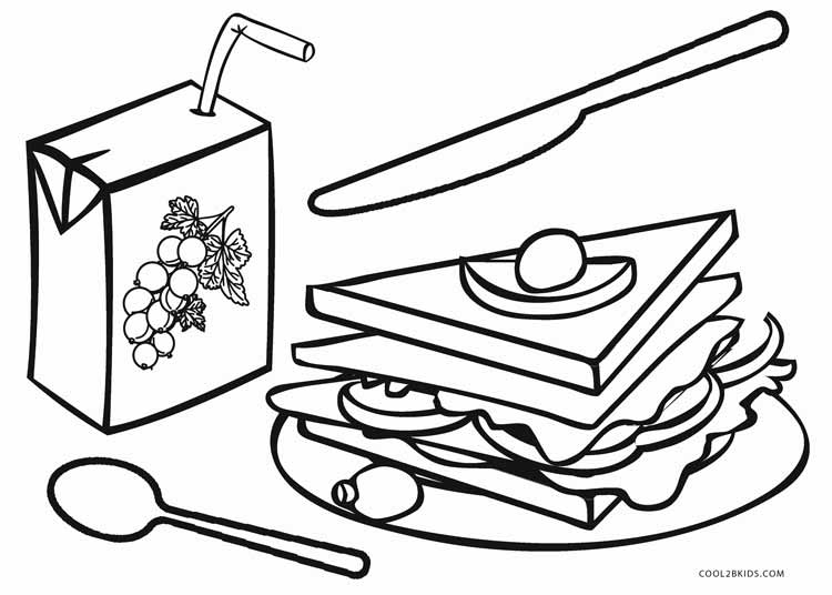 750x536 Free Printable Food Coloring Pages For Kids