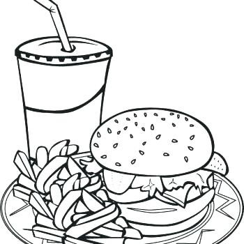 350x350 Ideas Fast Food Coloring Pages And Online Photo Logos