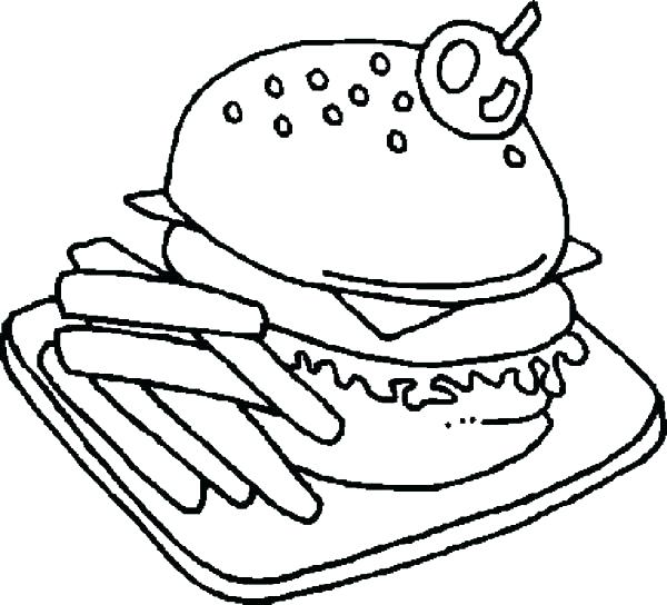 600x544 Junk Food Coloring Pages Fast Food Coloring Pages Pictures Food
