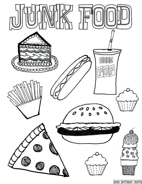 494x640 Junk Food Coloring Pages Junk Food Coloring Page Junk Food