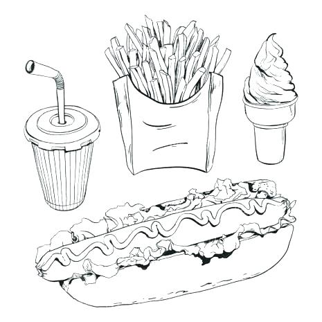 Fast Food Coloring Pages At Getdrawings Free Download