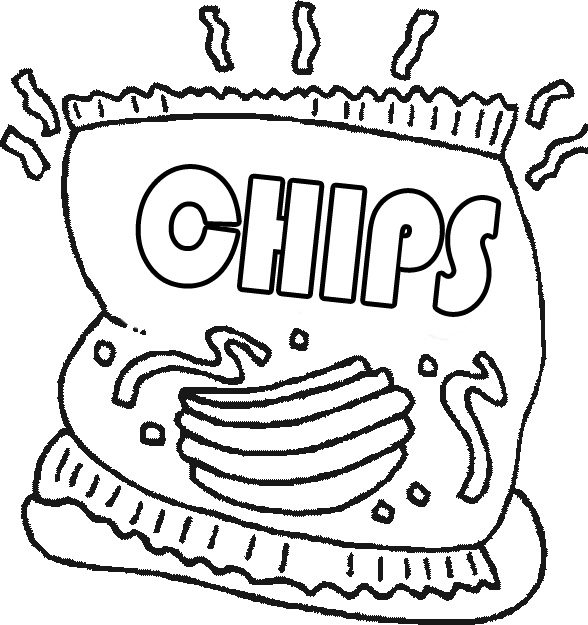 588x625 Snacks Coloring Pages