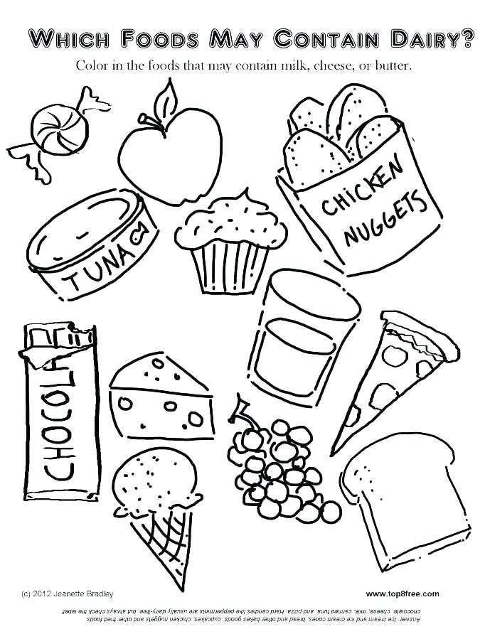 689x892 Fast Food Coloring Pages