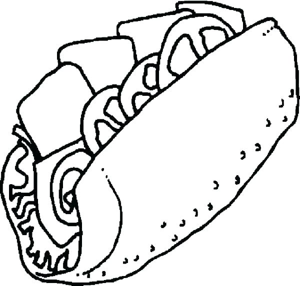 600x573 Fast Food Coloring Pages Breakfast Coloring Pages Coloring Pages