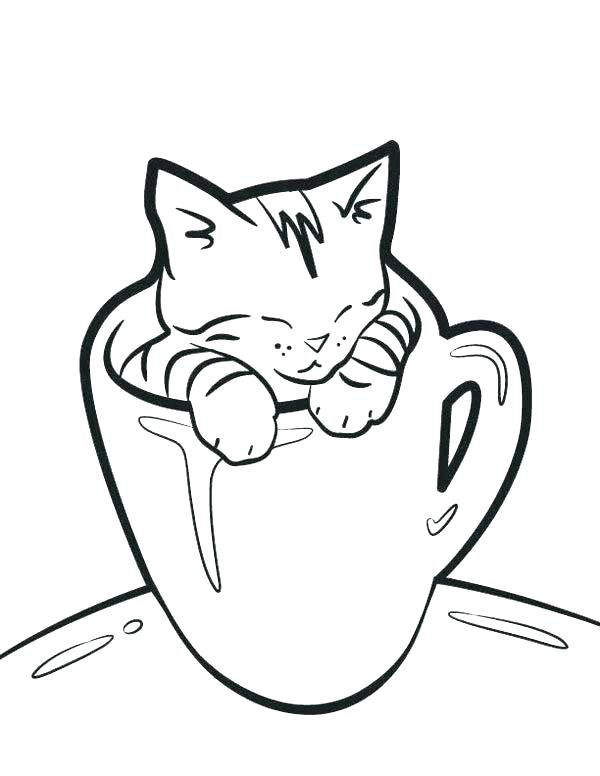 600x776 Cat Coloring Pages Printable As Well As Cat Coloring Page Cute Cat