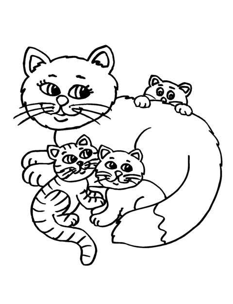 480x625 Fat Cat Coloring Pages For Kids