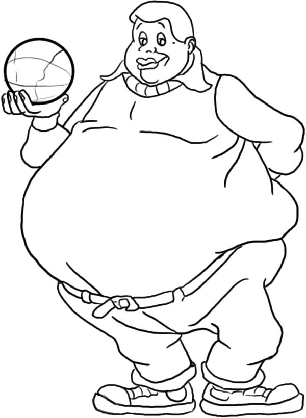600x820 Fat Albert Boy Holding A Ball Coloring Pages