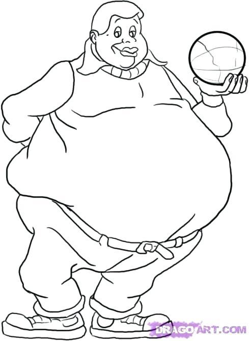 489x668 Fat Albert Printable Coloring Pages Lazy Boy Fuhrer Von