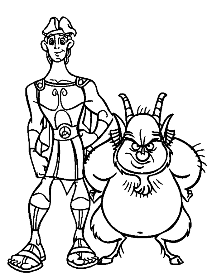 680x895 Hercules With Friends Fat Hercules Coloring Pages