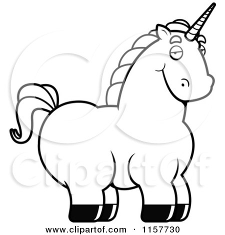 Fat Unicorn Coloring Pages