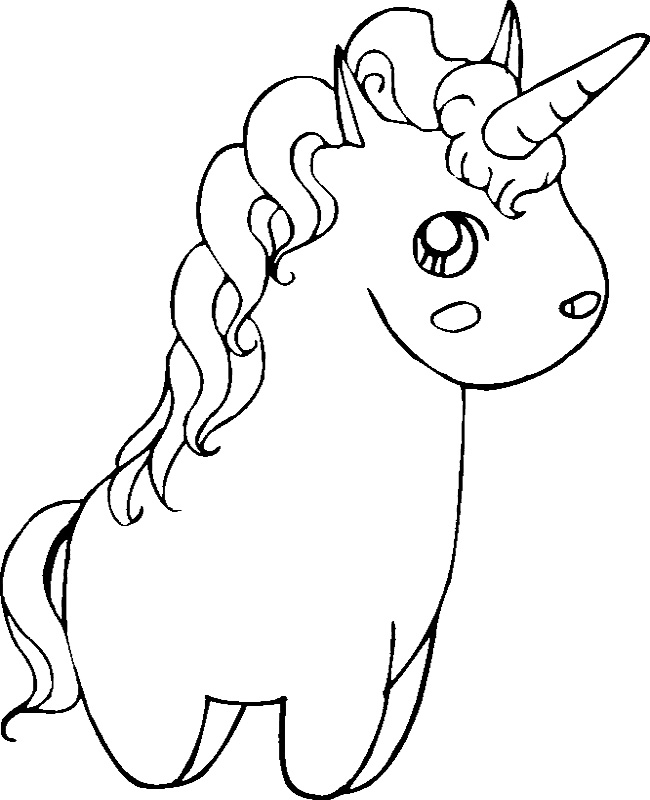 650x800 Fat Cute Unicorn Coloring Pages