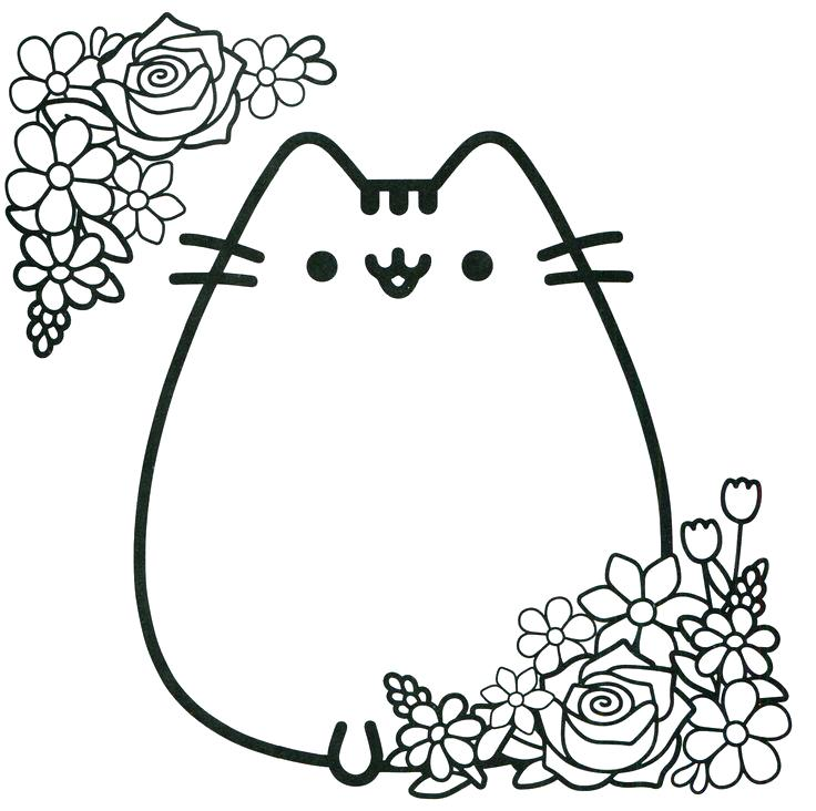 736x732 Kawaii Coloring Pages Fat Cat Coloring Pages Coloring Images Adult