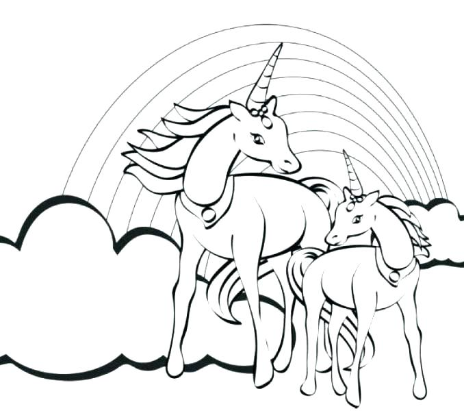 678x600 Unicorn Coloring Pages Printable Very Fat Unicorn Printable