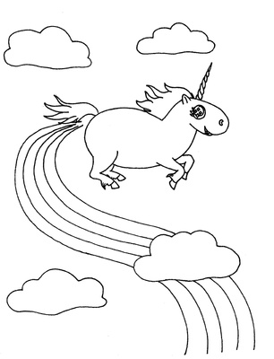 306x400 Cute Unicorn Coloring Pages