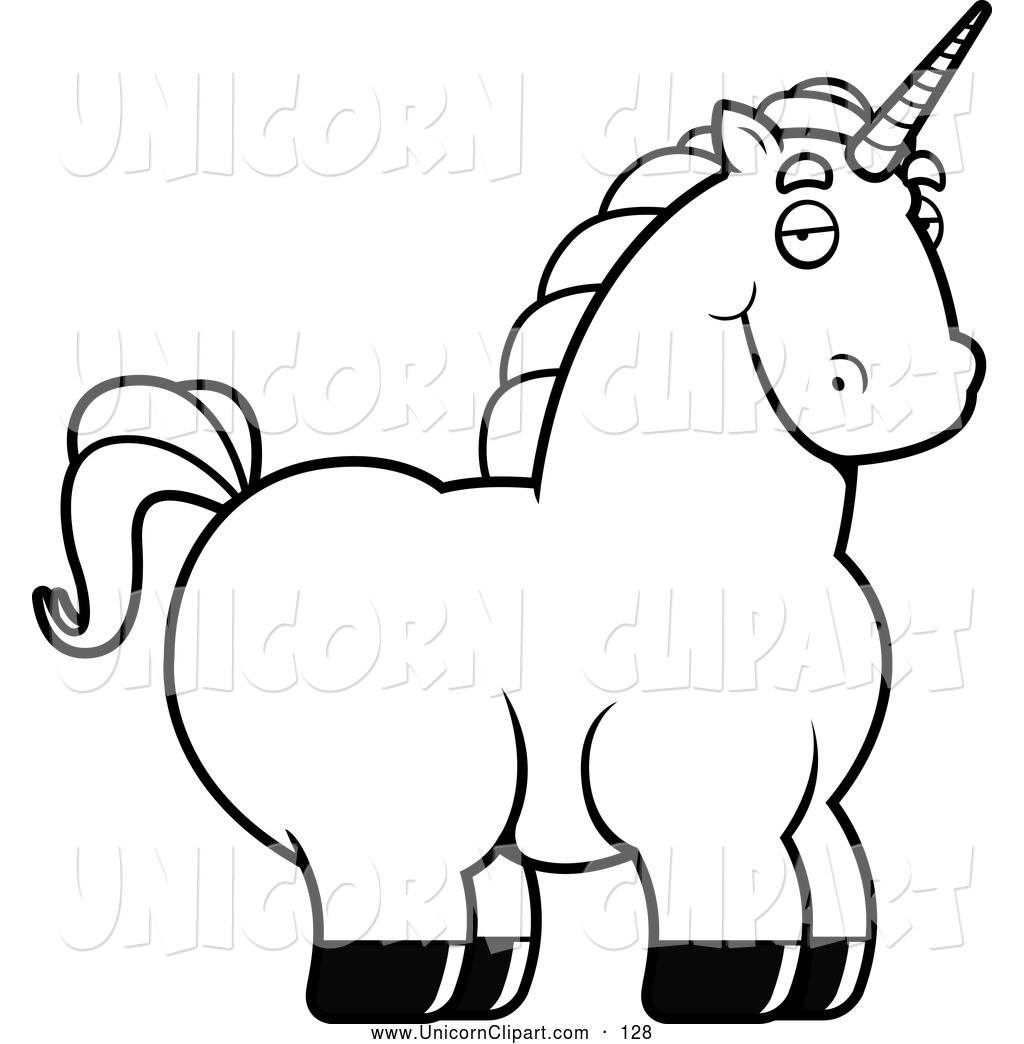 1024x1044 Fantasy Vector Clip Art Of A Fatty Black And White Chubby Unicorn
