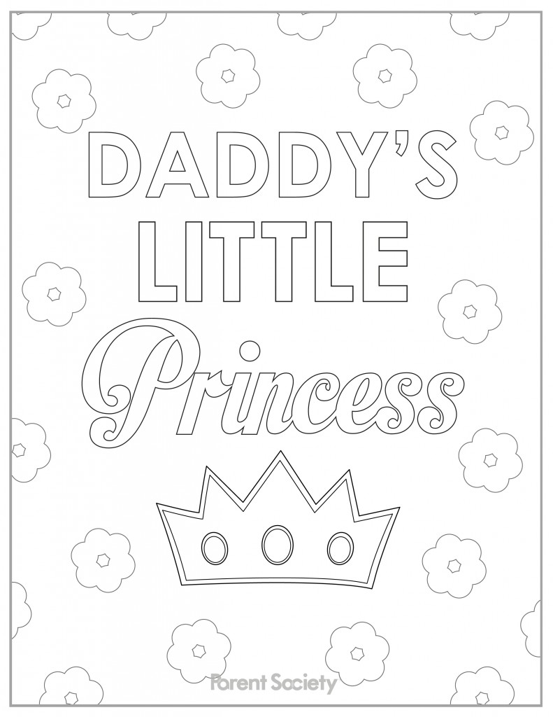 791x1024 Daddy Daughter Coloring Pages