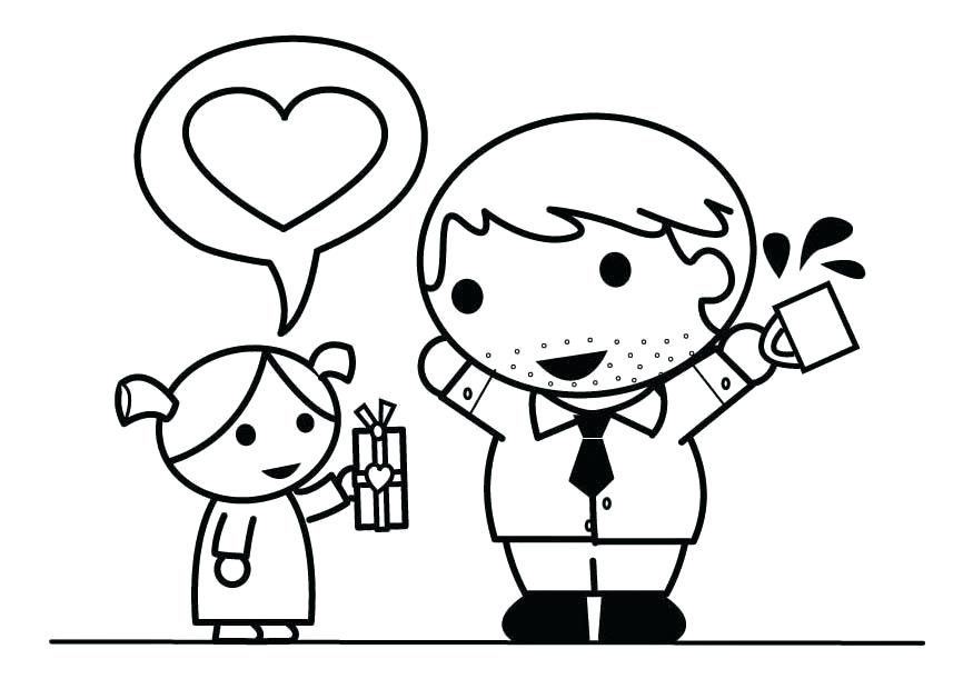 875x620 Father And Daughter Coloring Pages Download Large Image Father