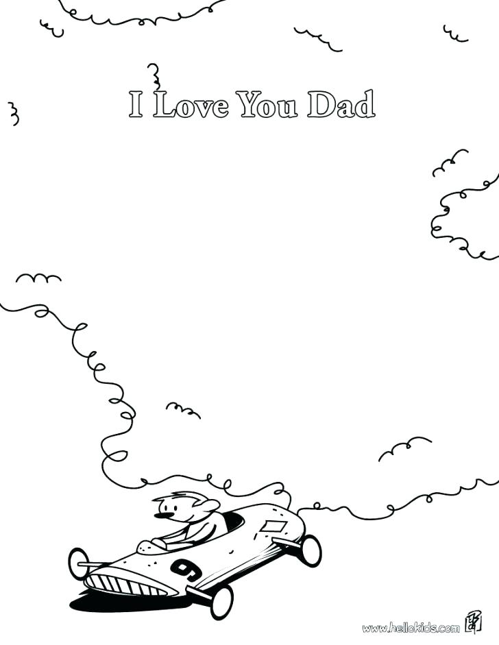 728x941 Coloring Pages For Dad Happy Birthday Dad Coloring Pages I Love
