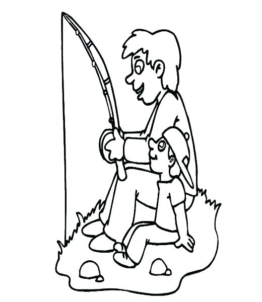 520x600 Father And Son Coloring Pages Father And Son Coloring Pages S Day