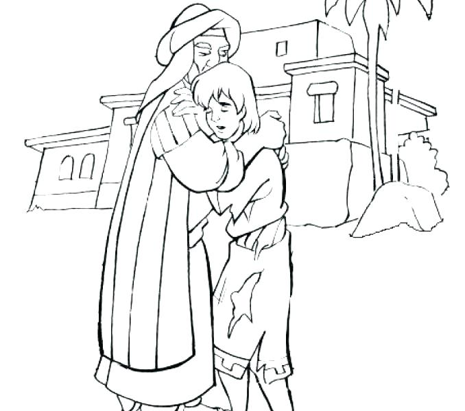 678x600 Prodigal Son Coloring Page Father And Son Coloring Pages Terrific
