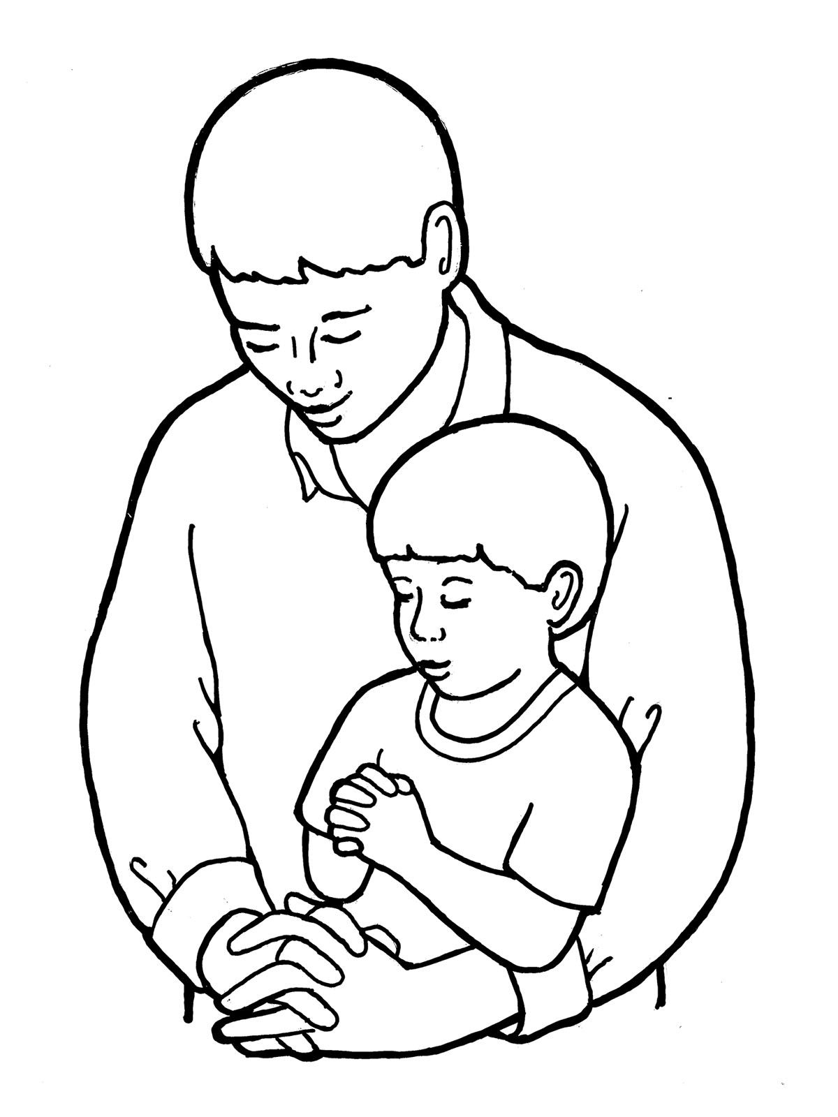 1200x1600 Symbols For Father Son Within Coloring Pages For Father