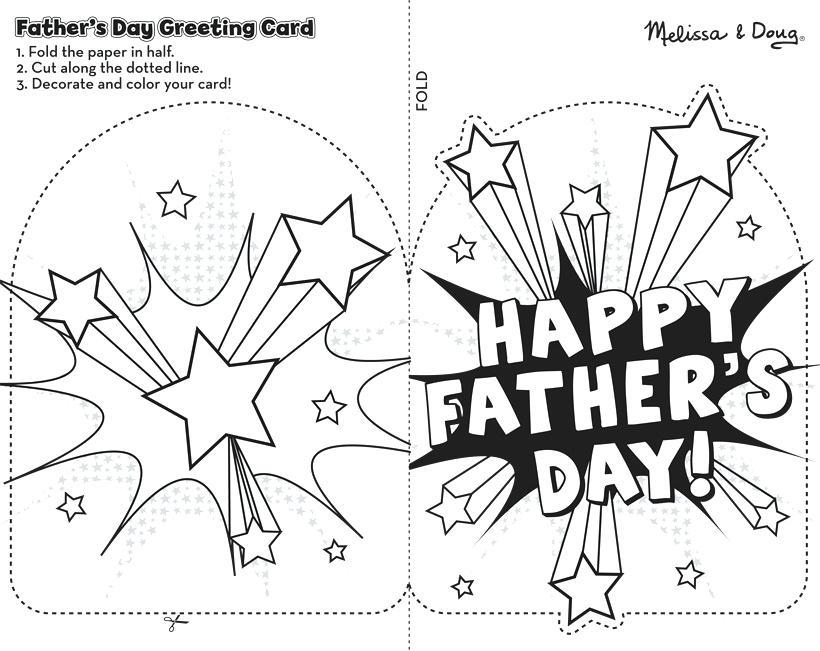 820x651 Fathers Day Cards Coloring Pages Printable Fathers Day Card Free