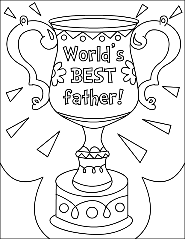618x800 Happy Father's Day Coloring Pages World Best Fathers Award