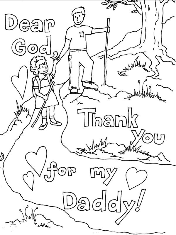 600x802 Father' Day Cards To Color Printable Father's Day Coloring Pages