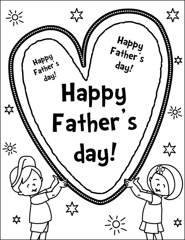 618x800 Fathers Day Coloring Pages Happy Fathers Day Printable Coloring