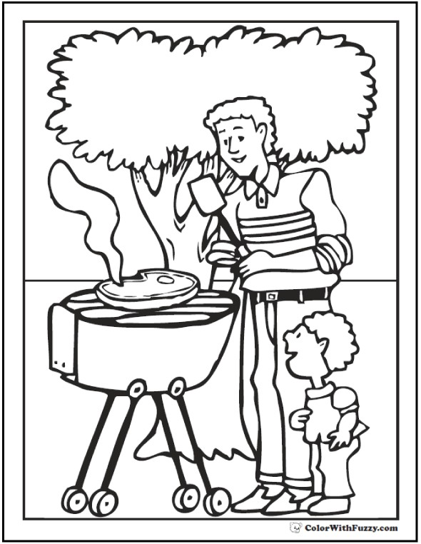 590x762 Beautiful Grandparents Day Coloring Pages Free Printable Fathers