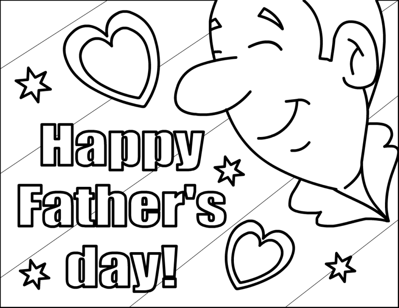 800x618 Free Printable Happy Fathers Day Coloring Pages